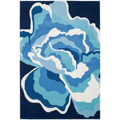 Antilles Hand-Tufted Mediterranean / Blue Area Rug Rug Size: 4 x 6