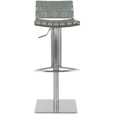 Appin Adjustable Height Swivel Bar Stool Upholstery: Gray