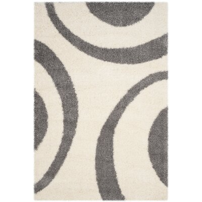 Barbara Shag Ivory/Gray Area Rug Rug Size: Rectangle 51 x 76