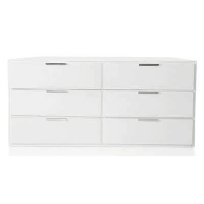 Barchov 6 Drawer Dresser Color: White