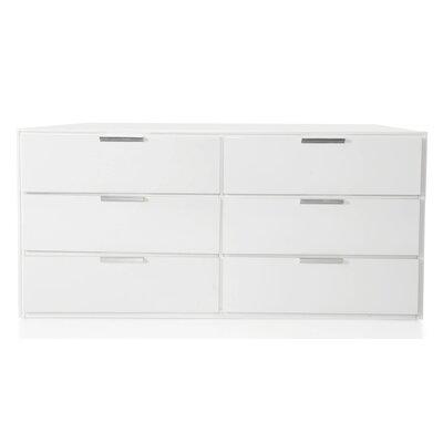 Barchov 4 Drawer Dresser Finish: White