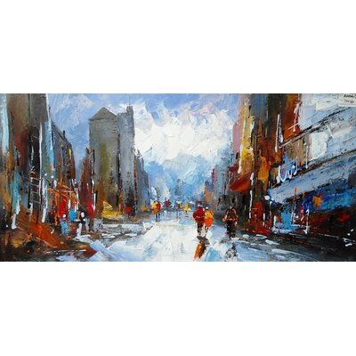Abstract City Painting on Canvas LTRN4926 30596639