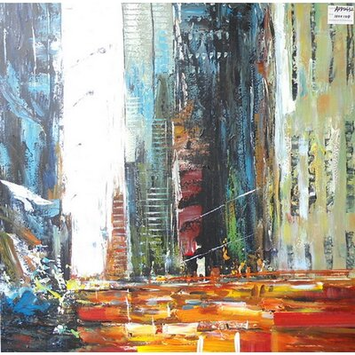 Abstract City Painting on Canvas LTRN4927 30596640