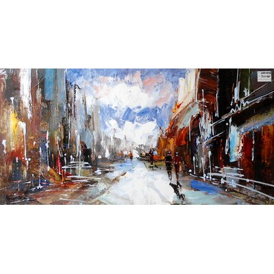 Abstract City Painting on Canvas LTRN4928 30596641