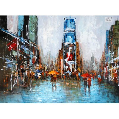 Abstract City Painting on Canvas LTRN4929 30596642