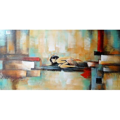 Abstract Woman Painting on Canvas LTRN4930 30596643
