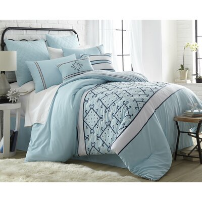 Borovnice 8 Piece Comforter Set Size: California King