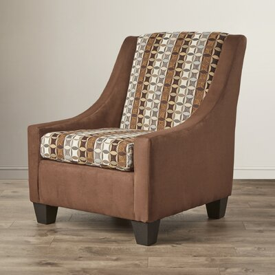 Belinda Accent Armchair Upholstery: Brown