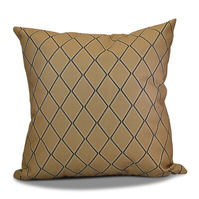Decorative Holiday Geometric Print Throw Pillow Size: 16 H x 16 W, Color: Taupe