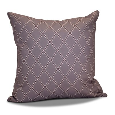Decorative Holiday Geometric Print Outdoor Throw Pillow Size: 16 H x 16 W, Color: Lavender