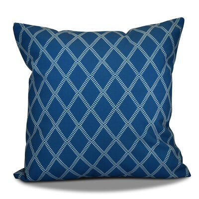 Decorative Holiday Geometric Print Outdoor Throw Pillow Size: 16 H x 16 W, Color: Teal