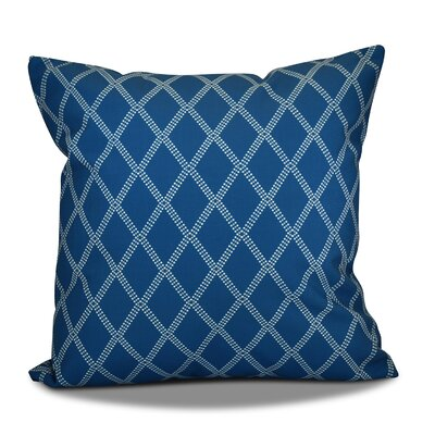 Decorative Holiday Geometric Print Throw Pillow Color: Teal, Size: 18 H x 18 W