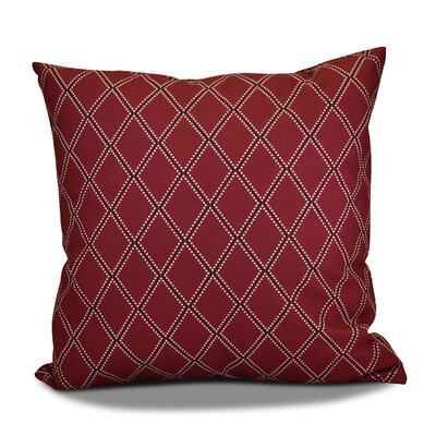Decorative Holiday Geometric Print Throw Pillow Size: 18 H x 18 W, Color: Cranberry