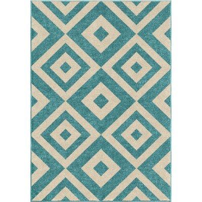 Alexander Blue Area Rug Rug Size: 52 x 76
