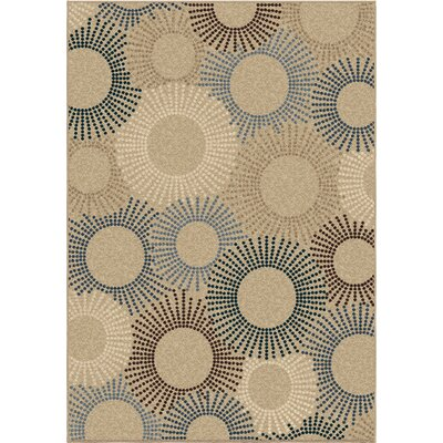 Alvin Beige Indoor/Outdoor Area Rug Rug Size: 52 x 76
