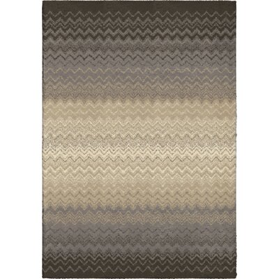 Andrew Gray/Beige Area Rug Rug Size: 53 x 76