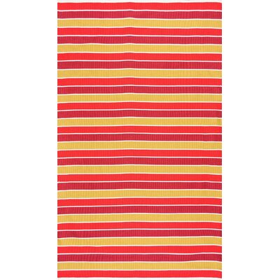 Isaac Red Area Rug Rug Size: Rectangle 76 x 96