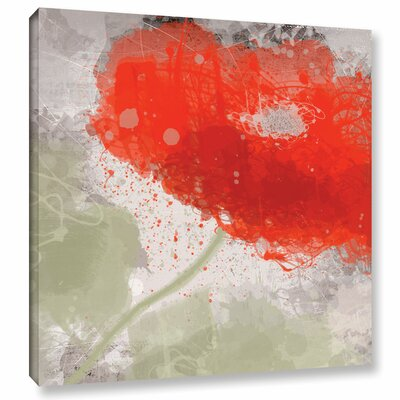 Deep Red 2 Painting Print on Wrapped Canvas