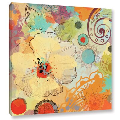 Exotic Flowers Painting Print on Wrapped Canvas