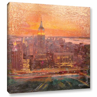 Uptown Manhattan Painting Print on Wrapped Canvas