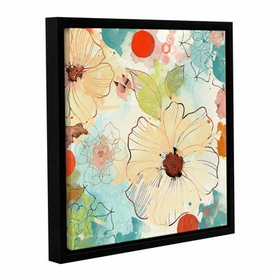 Beautiful Flowers II Framed Painting Print on Wrapped Canvas Size: 10
