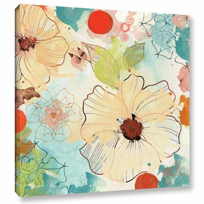 Beautiful Flowers II Painting Print on Wrapped Canvas