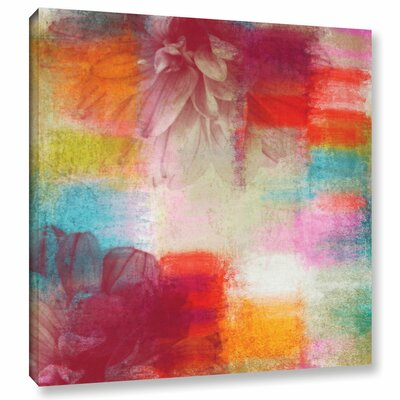 This Glamorous Floral Painting Print on Wrapped Canvas Size: 10