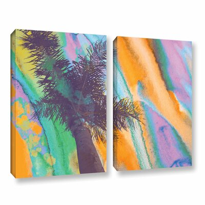 California Sunset 2 2 Piece Painting Print on Wrapped Canvas Set