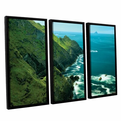 Emerald Coast 3 Piece Framed Photographic Print on Wrapped Canvas Set Size: 24