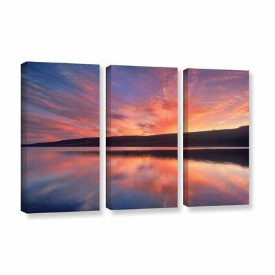 Sunset Splendor 3 Piece Photographic Print on Wrapped Canvas Set Size: 24