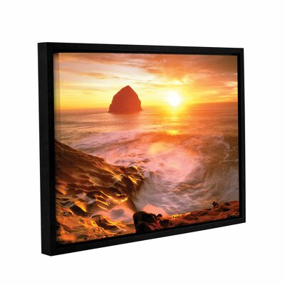 Tide Rolls In Framed Photographic Print on Wrapped Canvas