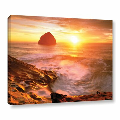 Tide Rolls In Photographic Print on Wrapped Canvas