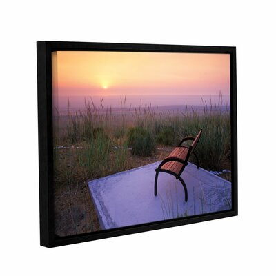 Peach Sunset Framed Photographic Print on Wrapped Canvas Size: 14