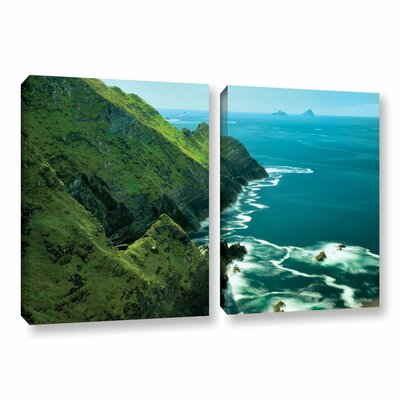Emerald Coast 2 Piece Photographic Print on Wrapped Canvas Set