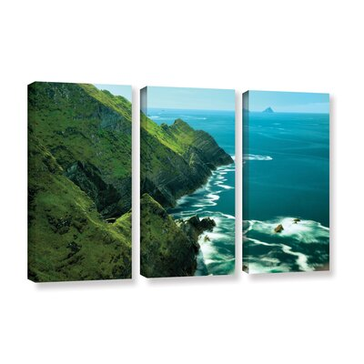 Emerald Coast 3 Piece Photographic Print on Wrapped Canvas Set Size: 24
