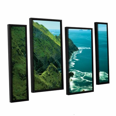 Emerald Coast 4 Piece Framed Photographic Print on Wrapped Canvas Set Size: 24