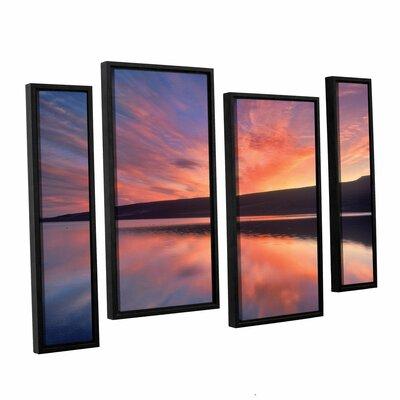 Sunset Splendor 4 Piece Framed Photographic Print on Wrapped Canvas Set Size: 24