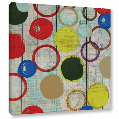 Rainbow Circles II Painting Print on Wrapped Canvas Size: 10