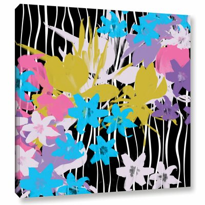 "Blossoming Garden VIII Painting Print on Wrapped Canvas Size: 14"" H x 14"" W x 2"" D LTRN5285 30801551"