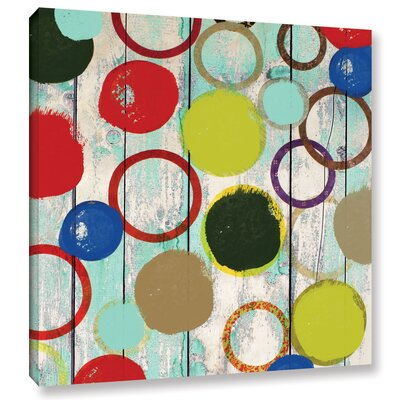 Rainbow Circles II 2 Painting Print on Wrapped Canvas