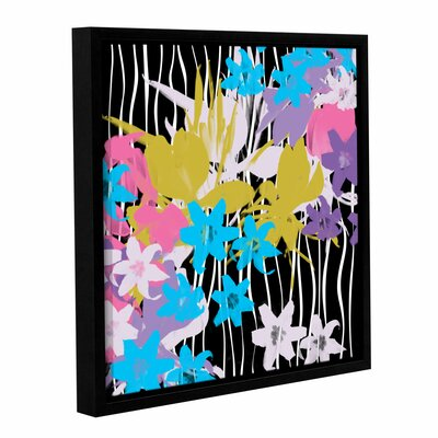 "Blossoming Garden VIII Framed Painting Print on Wrapped Canvas Size: 14"" H x 14"" W x 2"" D LTRN5303 30801621"