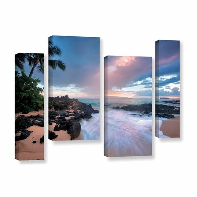 Cool Breeze 4 Piece Photographic Print on Wrapped Canvas Set Size: 24