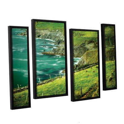 Sea 4 Piece Framed Photographic Print Set in Green