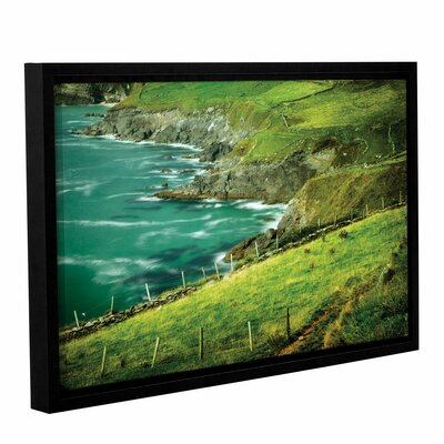 Sea Framed Photographic Print in Green
