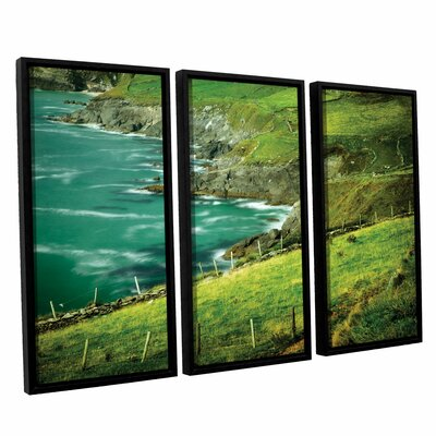 Sea Green 3 Piece Floater Framed Photographic Print Set