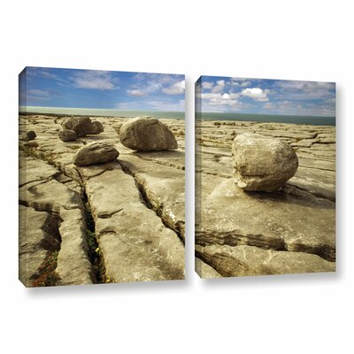 Boulders 2 Piece Photographic Print on Wrapped Canvas Set