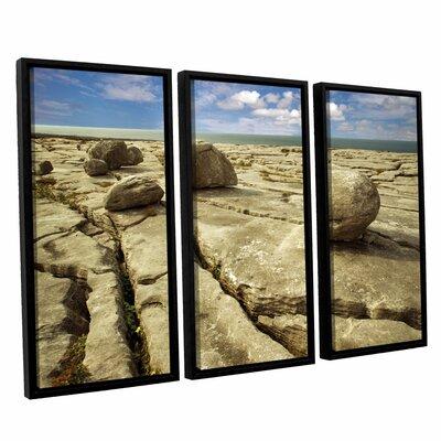 Boulders 3 Piece Framed Photographic Print Set