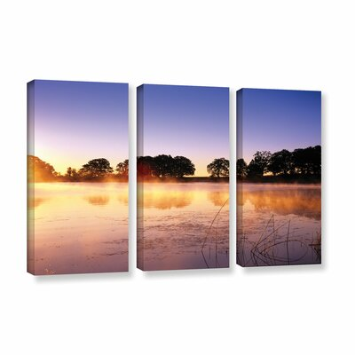Morning 3 Piece Photographic Print on Wrapped Canvas Set