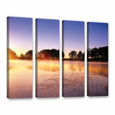 Morning 4 Piece Photographic Print on Wrapped Canvas Set