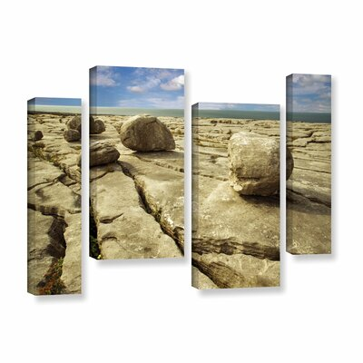 Boulders 4 Piece Photographic Print on Wrapped Canvas Set